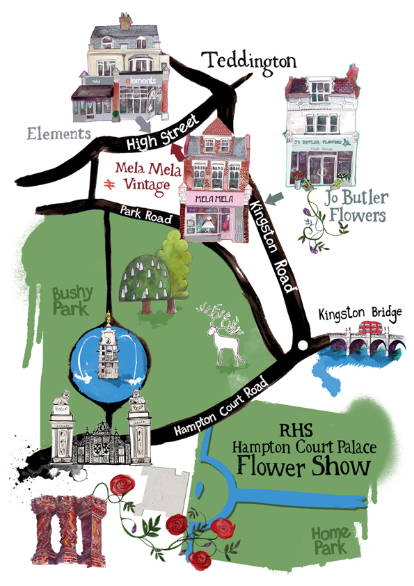 Map for Jo Butler Flowers at Hampton Court Flower Show 2013