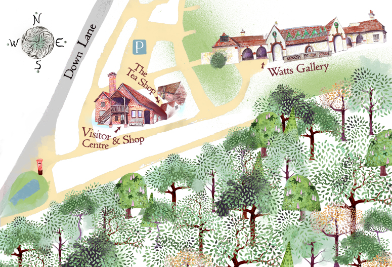 Watts Gallery Illustrated Map