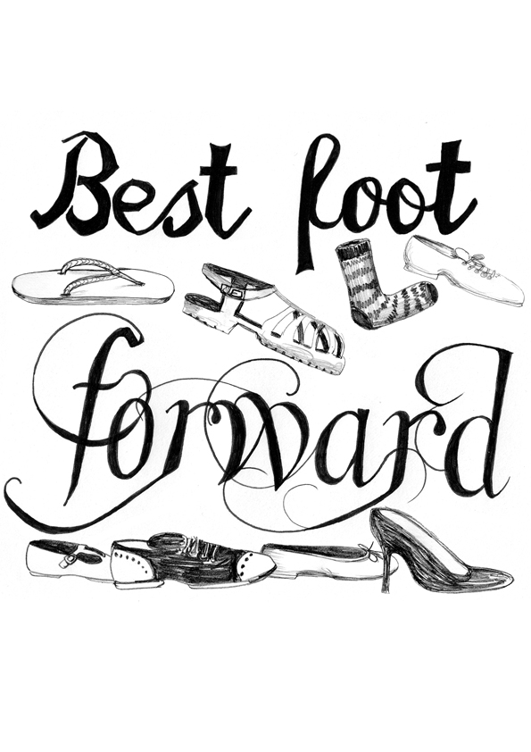 Best Foot Forward - Illustrated Sayings